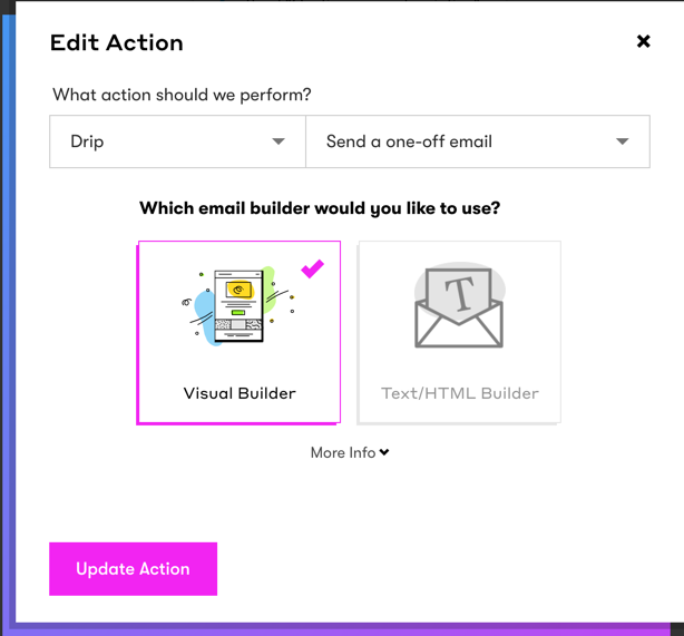 Select email builder automation