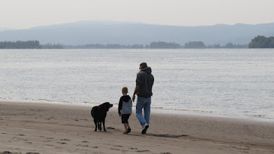 Photo: A family stroll in the early morning.
