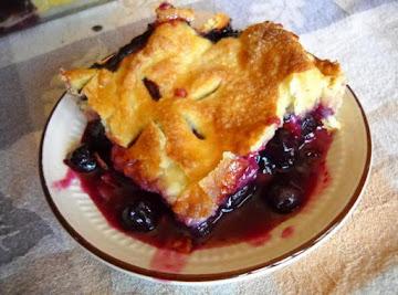 Grandma Catherine's Blueberry Pie Recipe