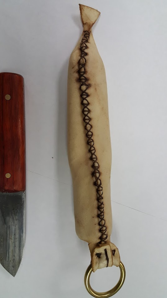 Back of finished sheath