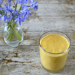 Carrot Smoothie with Ginger and Orange.