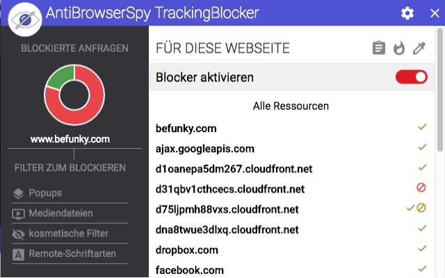 AntiBrowserSpy TrackingBlocker - SE