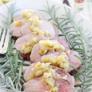 Roast Pork Tenderloin with Vanilla Apple Chutney.