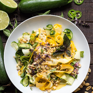 Shaved Summer Squash Salad with Thai Basil + Peanuts (Video!).