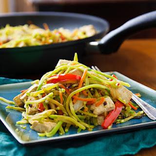 Broccoli Slaw Stirfry with Tofu
