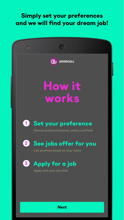 GoodCall - Find your dream job- screenshot