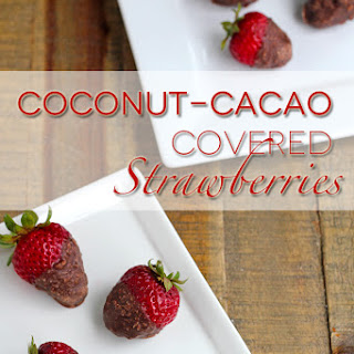 Coconut-Cacao Covered Strawberries