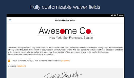 WaiverForever - Online Waivers- screenshot thumbnail