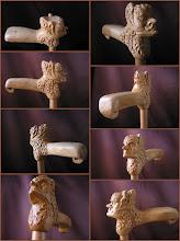 """Photo: Bastón """"cabeza fantástica"""". Talla en madera. Woodcarving.   Para leer algo más en relación con esta obra ir al blog: http://tallaenmadera-woodcarving-esculturas.blogspot.com/2008/12/cabeza-fantstica-y-bho.html"""