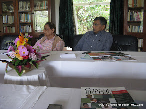 """Photo: Eminent thinkers from various parts of India met at Panchgani, Mahabaleshwar near Pune to discuss on Change for Better, a quarterly thought journal with a motto """"Better World Through Better People"""". Mr. Abhay Vaidya, and Dr. Dabholkar"""