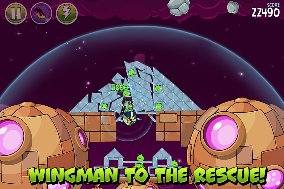 Angry Birds Space screenshot #3