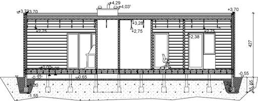 D193 - Dom Prosty - Przekrój