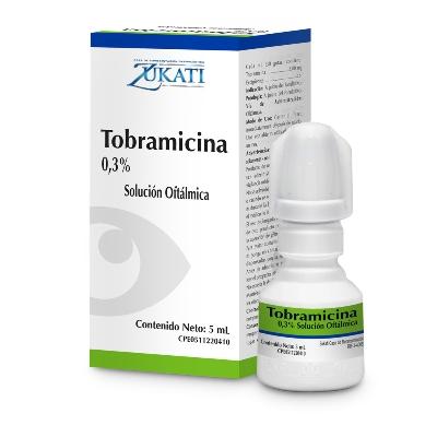 Tobramicina+Dexametasona Zukati 0,3/0.01% Solución Oftálmica 5 mL