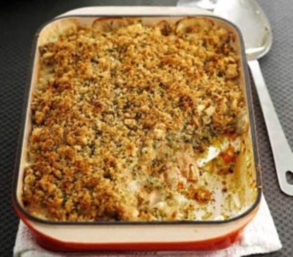 Tasty White Fish Crumble Casserole Recipe
