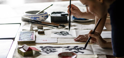 Learn calligraphy and other ancient arts during a sailing in China on Sanctuary Yangzi Explorer.