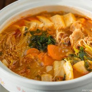 Japanese Cooking Nabemono (Hotpot): Kimchi Nabe (Part 1)