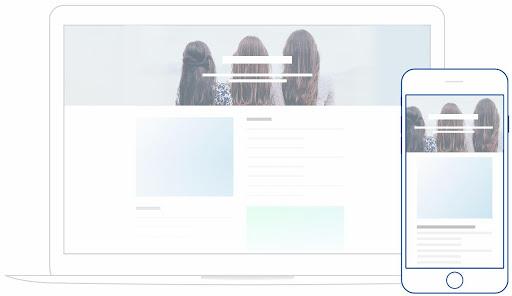 Création d'un site web pour google