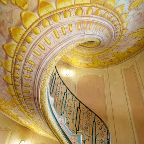 MMPI_20150519_MMCK0057_0129 by Mick McKean - Buildings & Architecture Architectural Detail ( holiday, stair, stairs, component, family, melk abbey, melk, architecture, spiral, lower austria, austria,  )