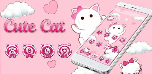Pink Cute Cloud Cat Theme Apps On Google Play