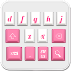 Teclado rosa blanco icon
