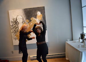 Photo: enn & I at the dance jam 18 Jan 2014 at Urban Gallery. Thanks Nik for taking the photo! — Brenda Clews and Jennifer Hosein at Urban Gallery.