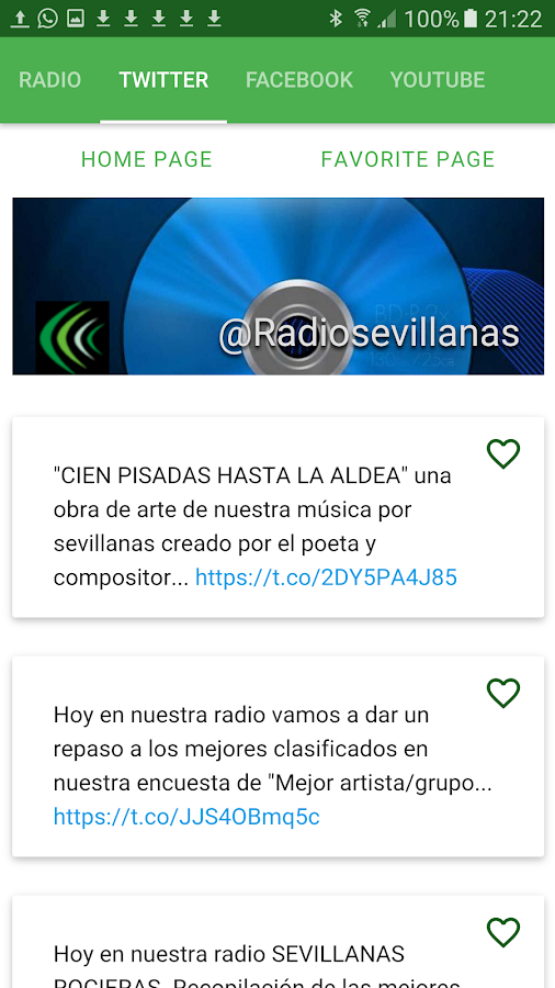 Radio Sevillanas web- screenshot