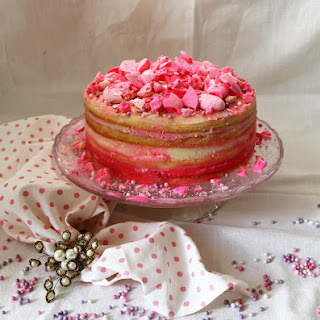 Rose Raspberry Layer Cake