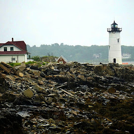lighthouse by Harold Stoler - Buildings & Architecture Public & Historical ( historic, lighthouse, architectural, landscape, architecture )