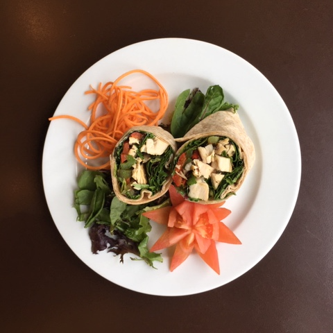 Grilled chicken & Grilled Vegetable Wrap