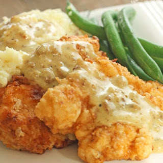 Chicken Fried Chicken with Homemade Country Gravy Recipe