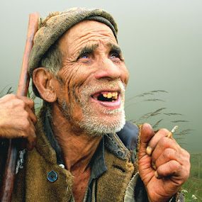 with a smile by Kaushik Dolui - People Portraits of Men ( senior citizen )