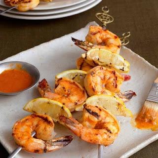 Grilled Shrimp with Piri-Piri Sauce.