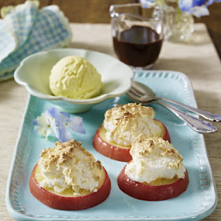 Baked Apples with Coconut Meringue