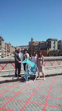 Photo: roda de premsa de presentació, Pont de Pedra
