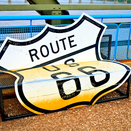 Rt 66 Bench by Ron Meyers - Artistic Objects Other Objects ( rt 66, chain of rocks, st. louis )