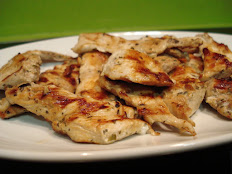 Flat grilled chicken breast prepared with our house sauce and onions