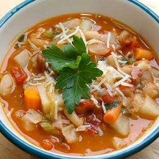 Italian Minestrone Soup.