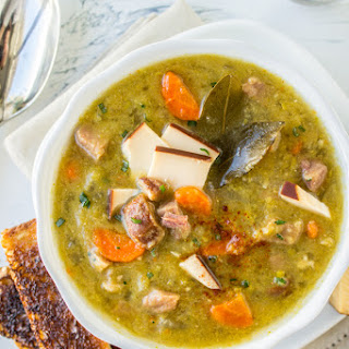 Split Pea Soup with Smoked Gouda