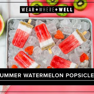 Watermelon Popsicles.