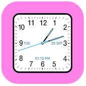 Analog Clock Square Classic
