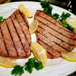 Grilled Marinated Swordfish Italian Style.