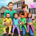 Virtual Mother Baby Quadruplets Family Simulator icon