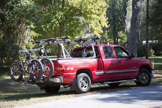 Photo: bikes loaded, heading home