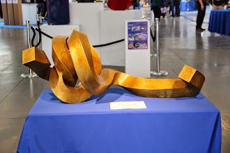 Photo: 3D Printed Art by Bruce Beasley at #REAL2015 Main Hall