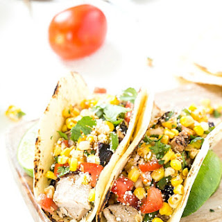 Grilled Pork Tacos with Mexican Corn Salsa.
