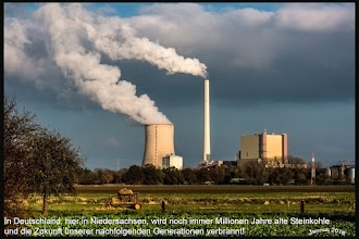 Photo: In Deutschland wird noch immer Millionen Jahre alte Steinkohle und die Zukunft unserer nachfolgenden Generationen verbrannt.  unsere schöne Welt: http://goo.gl/ITvFrA