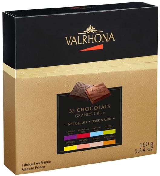 32 bitar choklad avsmakning presentförpackning - Valrhona