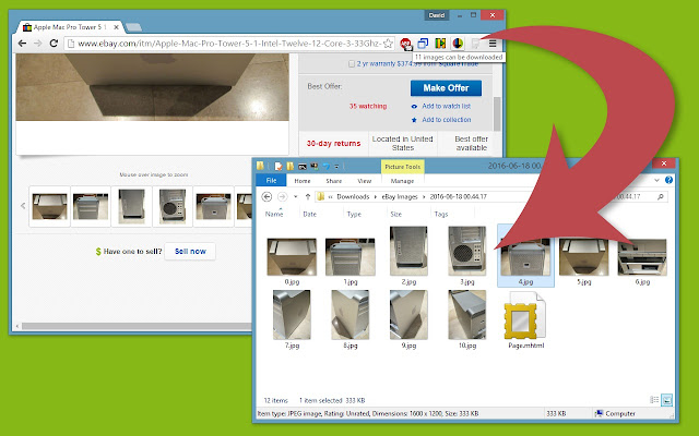 eBay Image and Page Saver