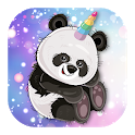 Cute Panda Unicorn - Stickers icon