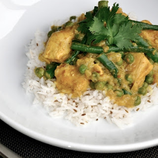 Yellow Curry Chicken with Basmati Rice.